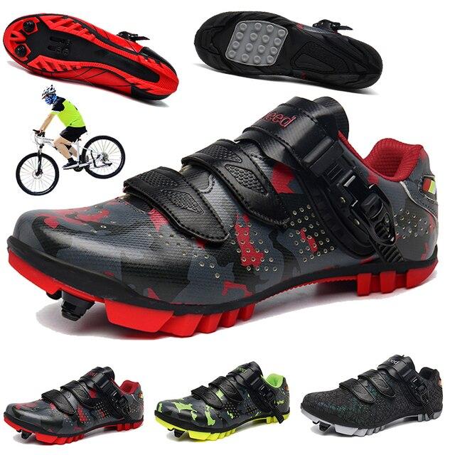 Homens mulher sapatos de ciclismo profissional tênis masculino ao ar livre multi-função estrada mountain bike sapatos homem respirável nano vamp 1