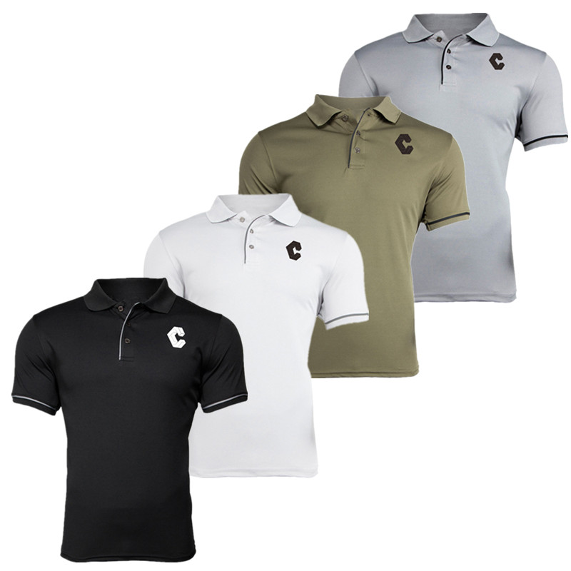 2019 New Summer Brand Polo Shirt Men Joggers Quick-drying Printing Casual Short Sleeve Bodybuilding shirt Tops Fitness Clothing