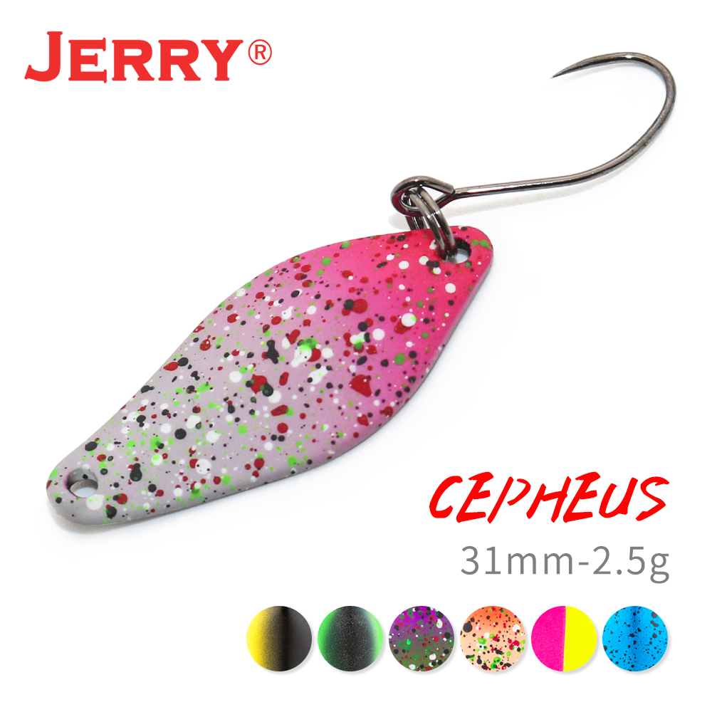 Jerry 2.5g alta qualidade truta iscas mini colheres de pesca de bronze isca de água doce girador isca pesca flores baubles único ganchos