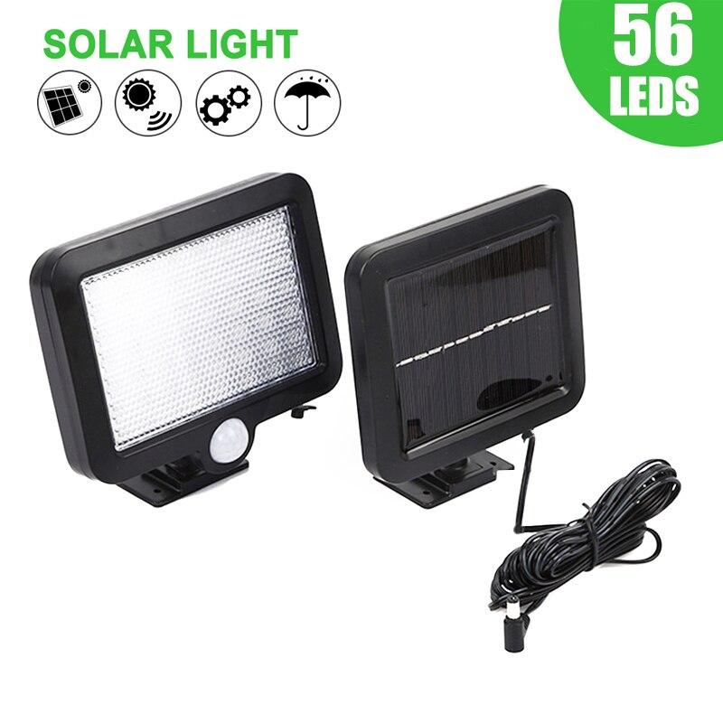 30/56 LED Solar Garden Light PIR Motion Sensor Outdoor Waterproof Separable Solar Wall Lights Garage Yard Gate Security Lamp