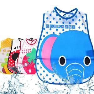 Feeding-Bibs Baby-Bibs Plastic Newborn Waterproof Adjustable Children Cartoon EVA Lunch