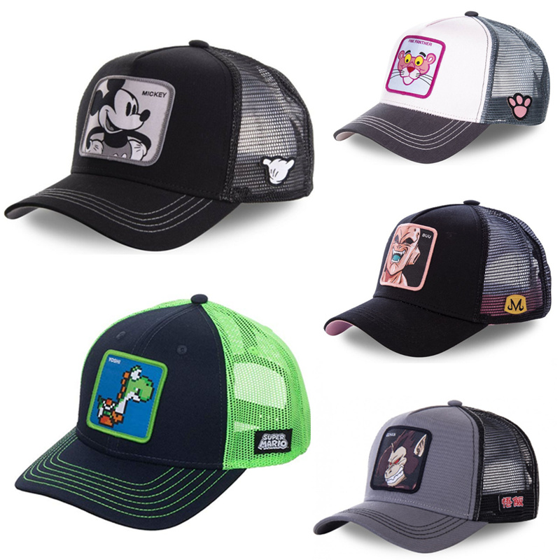 New Brand Super Mario Dragon Ball Snapback Cotton Baseball Cap Men Women Hip Hop Dad Mesh Hat Trucker Hat Dropshipping