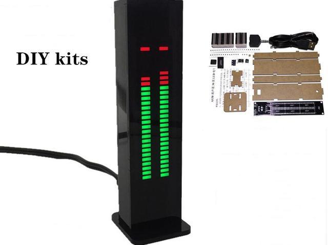 AS30 analizador de espectro de música estéreo, 30 segmentos, Kits de pantalla de nivel LED Medidor de VU