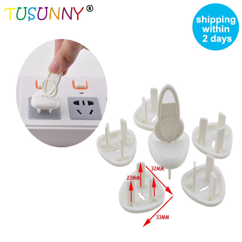 TUSUNNY 6 Pcs Chinese And Australia Standard Baby Safety Protection Product Electric Socket Outlet  Plug Protector