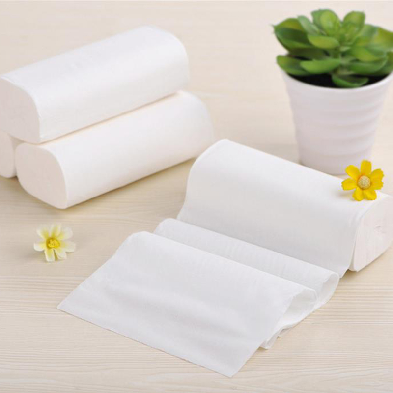 12 Rolls/Lot Toilet Roll Paper 4 Layers Home Bathroom Tissue Rolling Paper Natural Virgin Pulp Pattern Paper