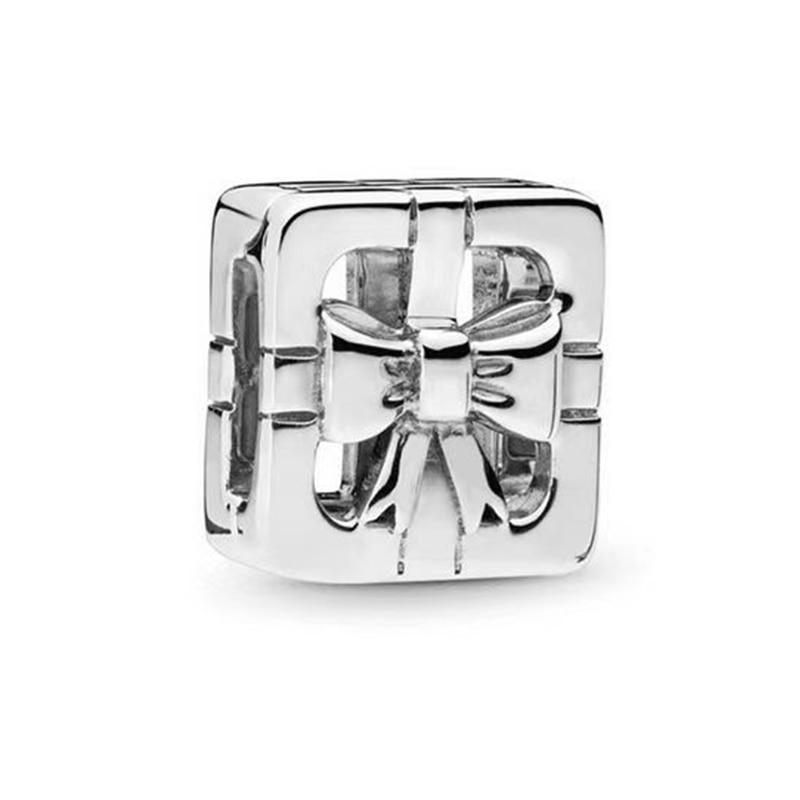 FEOLEO натуральная 925 пробы Серебряная скобка, очаровательные, подходят к оригиналу Pandora браслетов reflexions для Для женщин розового золота Цвет ювелирные изделия - Окраска металла: PAX020
