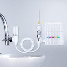 6 Tips Faucet Oral Irrigator Water Dental Flosser Implements Water Jet Toothbrush Pick Dental Irrigator Teeth Cleaning Machine