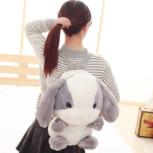 Wholesale cute cartoon rabbit shoulder bag furry toy backpack childrens holiday gift Christmas