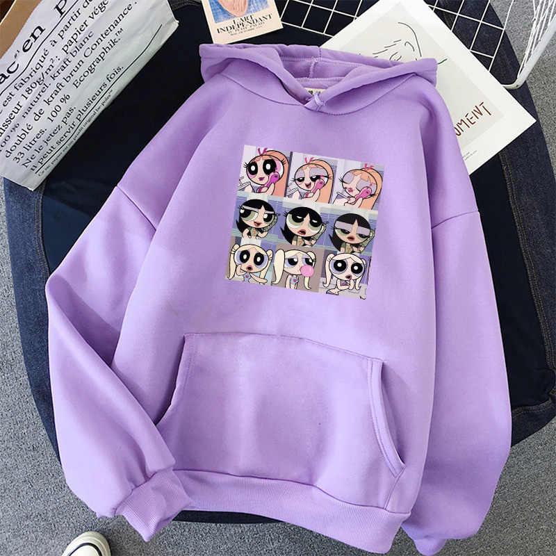 Bluza oversize wiosnny Streetwear nadrukowane bluzy swetry 2020 moda Harajuku zimowa bluza z kapturem kobiety luźne koreańskie Style