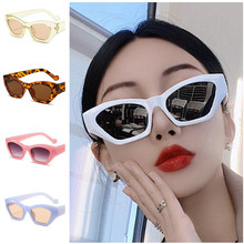 Fashion Women Personality Sunglasses Jelly Color Sun Glasses Anti-UV Spectacle Cat Eye Eyeglasses Goggle A++