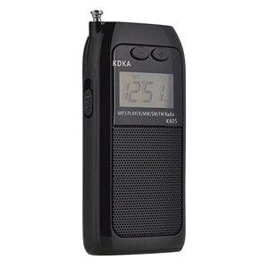 Image 3 - K605 mini bolso rádio fm am sw mw sintonização digital receptor de rádio mp3 player música onda média/onda curta/fm rádio estéreo