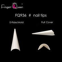 Fingerqueen 500 sztuk przezroczysty biały naturalny długi Stiletto Pointy sztuczne fałszywe pół okładka fałszywe ręcznie francuskie paznokcie porady FQ936 tanie tanio CN (pochodzenie) Palec 0-9SIZES FQ-936 Akrylowe 500P Fałsz paznokci Francuski tipsy