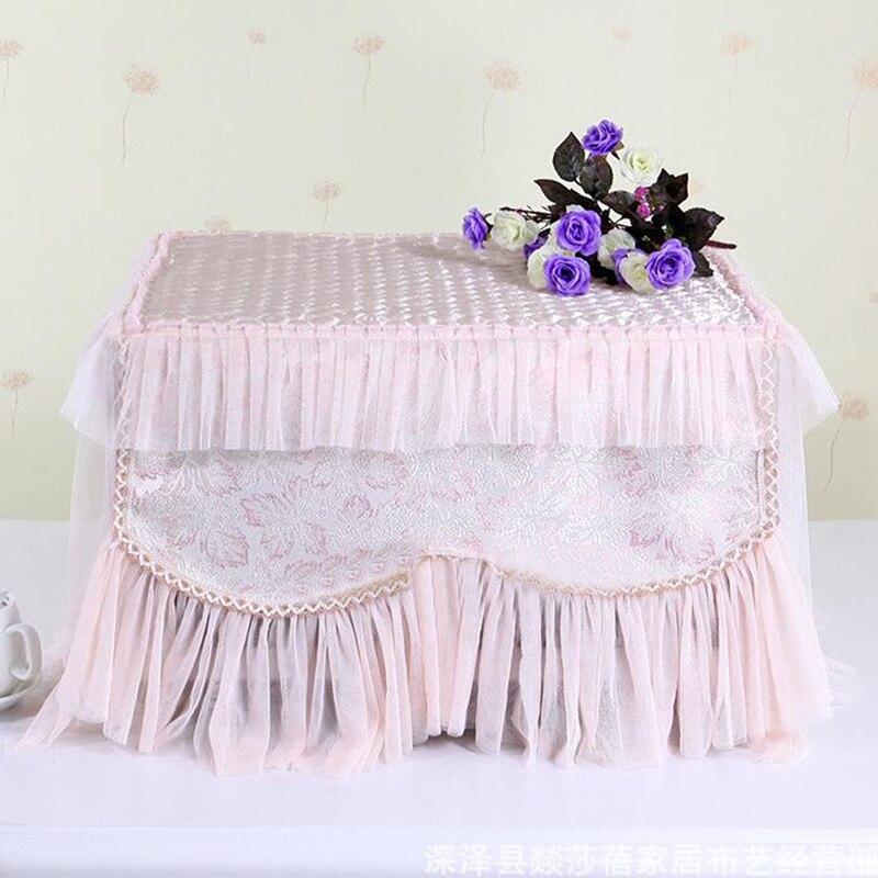 Haute qualité Polyester idyllique dentelle four à micro-ondes couverture poussière capot couverture ménage micro-ondes cache-poussière