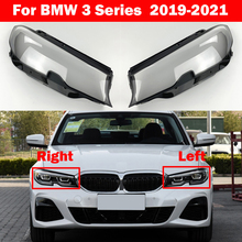 Auto Light Caps For BMW 3 Series G20 2019-2021 320i 325i 330i Car Lampshade Lamp Shade Front Headlight Cover Glass Lens Shell