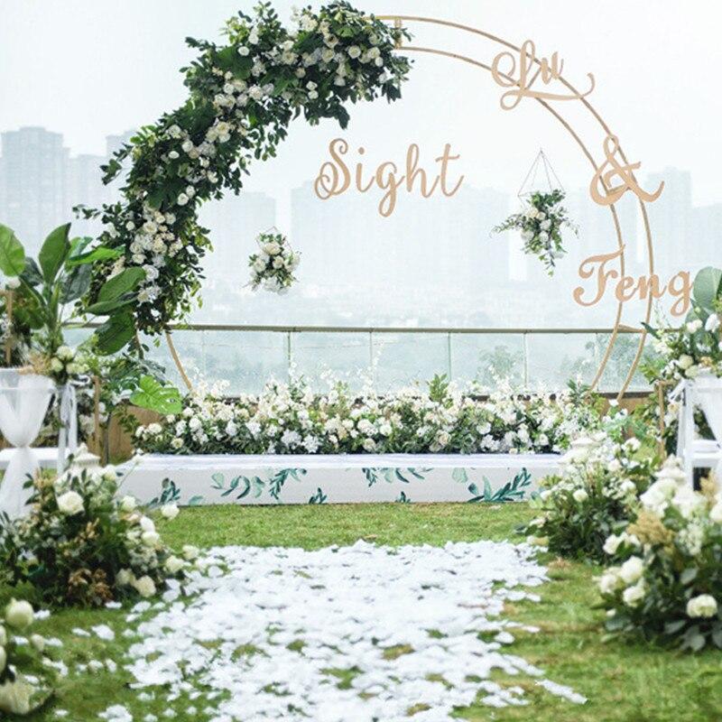 Открытый Свадебный Арка свадебный фон Двойной арки цветок стенд вечерние украшения сценический фон круг Арка Дверь