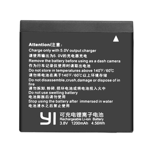 Image 2 - 2 Chiếc Ban Đầu AZ16 1 Pin Cho Xiaomi YI Lite 4K 4K + + Màn Hình LCD USB Sạc Đôi Cho xiaoyi Camera Hành Động Thứ Hai 1200MAh 3.85V