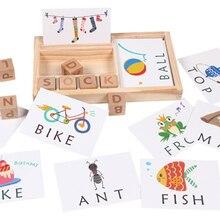 Yeni yazım kelimeleri oyuncak oyunu çocuklar için erken eğitici oyuncaklar çocuk öğrenme ahşap oyuncak eğitim oyuncak