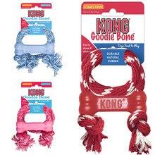 Kong kp51 filhote de cachorro goodie osso com corda (xs) vermelho/rosa/azul