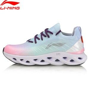 Image 2 - لى نينغ المرأة LN قوس وسادة احذية الجري أحذية رياضية تنفس أحادية الغزل بطانة لى نينغ أحذية رياضية يمكن ارتداؤها ARHP108 XYP936