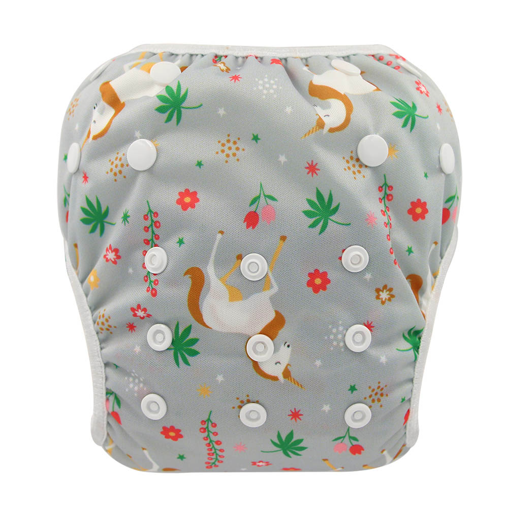 Waterproof Diapers For Swimming Infants Diaper Newborn Print Training Pants For Baby Swimsuit Cloth Nappies Erkek Bebek Swimwear