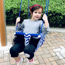 New Outdoor Swing Toys for Children Indoor Swing Rope Seat Molded For Kids Enjoy Flowers Birdsong Garden Toy Swings cheap canvas In-Stock Items zs89 Certificate 2012152203007351 13-24 Months 2-4 Years