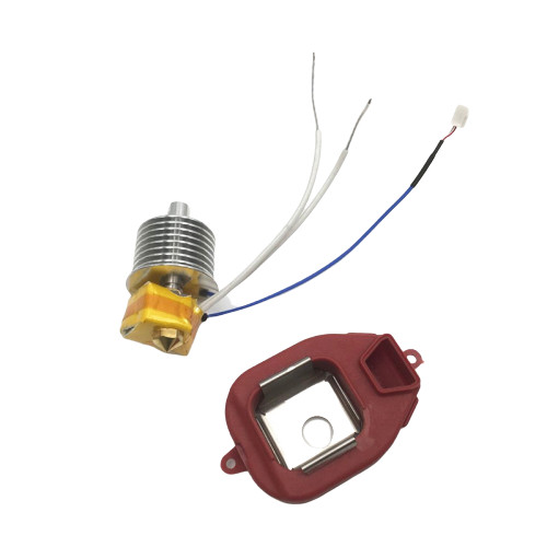 1set  Assembly Guider 2/2S EXTRUDER Hot End ASSEMBLY Kit 0.4 Nozzle High Temperature Version For Flashforge Guide 3D Printer