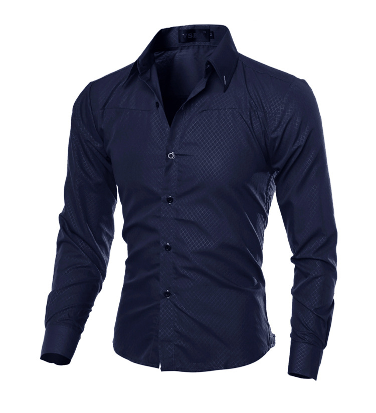 Mens Shirts Autumn Smart Casual Masculino Plaid Fashion Shirts No Ironing Slim Long Sleeve Formal Wear Hombre Male MOOWNUC 5XL