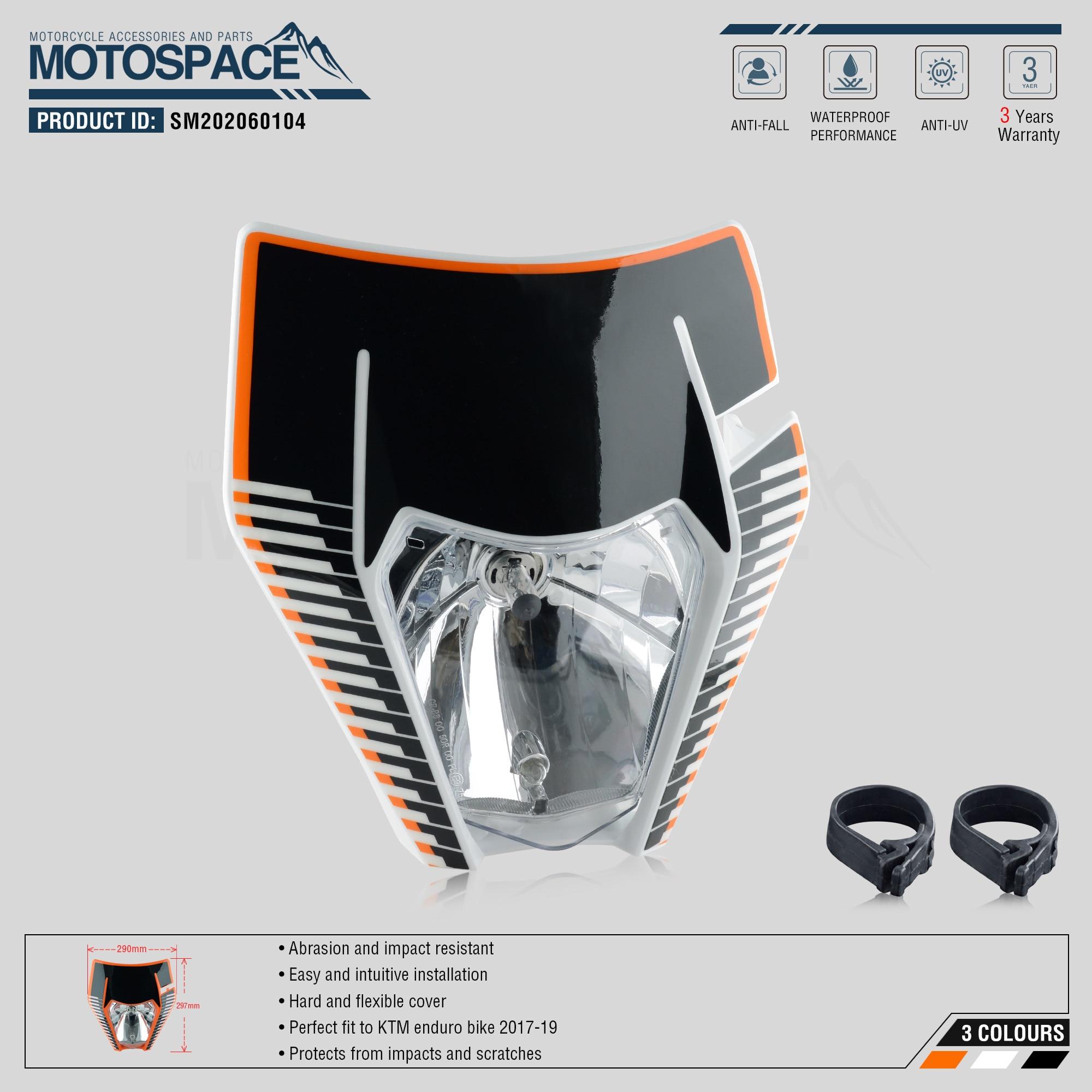 lowest price Spacemotors Headlight Headlamp With Sticker For KTM SX F EXC XCF SMR 2017 2018 2019 Motorcycle Dirt Bike MX Enduro Supermoto