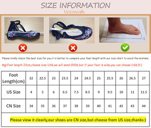 Image 5 - Veowalk Hidden Wedge Women Embroidered Canvas Sneakers, Low Top Denim Cotton Comfort Travel Shoes for Ladies Embroidery Creepers
