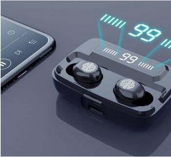 Беспроводные наушники Bluetooth V5.0 HiFi IPX7 водонепроницаемые 3300 мАч Power Bank M11 T