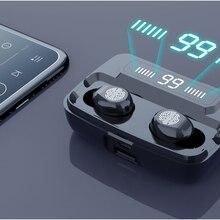 Fones de ouvido sem fio bluetooth v5.0 alta fidelidade ipx7 impermeável 3300mah power bank m11 tws in-ear fone de ouvido redução de ruído para esportes