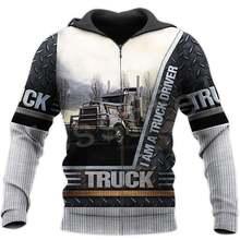 Пуловер для водителя грузовика модный спортивный костюм с круглым