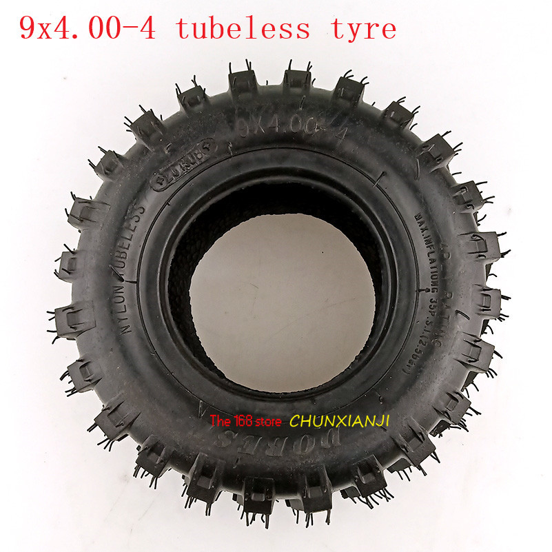 9X4.00-4 tubeless <font><b>Tire</b></font> Tube 9x4.00-4 Turf Rider Tread Tubeless Lawnmower Golf Go Cart ATV Pocket Bike Go Kart wheel tyre image