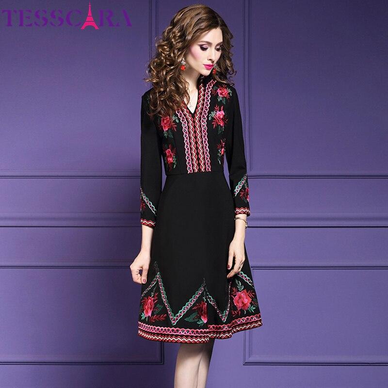 Winter Luxury Embroidery Dress  3