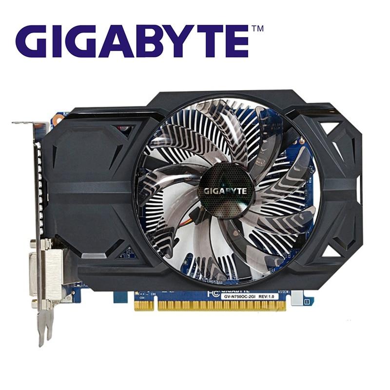 GIGABYTE GTX750 2GB D5 Graphics Cards GTX 750 2G D5 128Bit GDDR5 Video Card for nVIDIA Geforce GTX750 Hdmi Dvi  VGA Cards Used 1