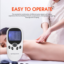 Dual Channel 6 modesLow frequency therapy Massager Tens Unit Electronic Therapy Body Neck Massager Pulse Muscle Stimulator
