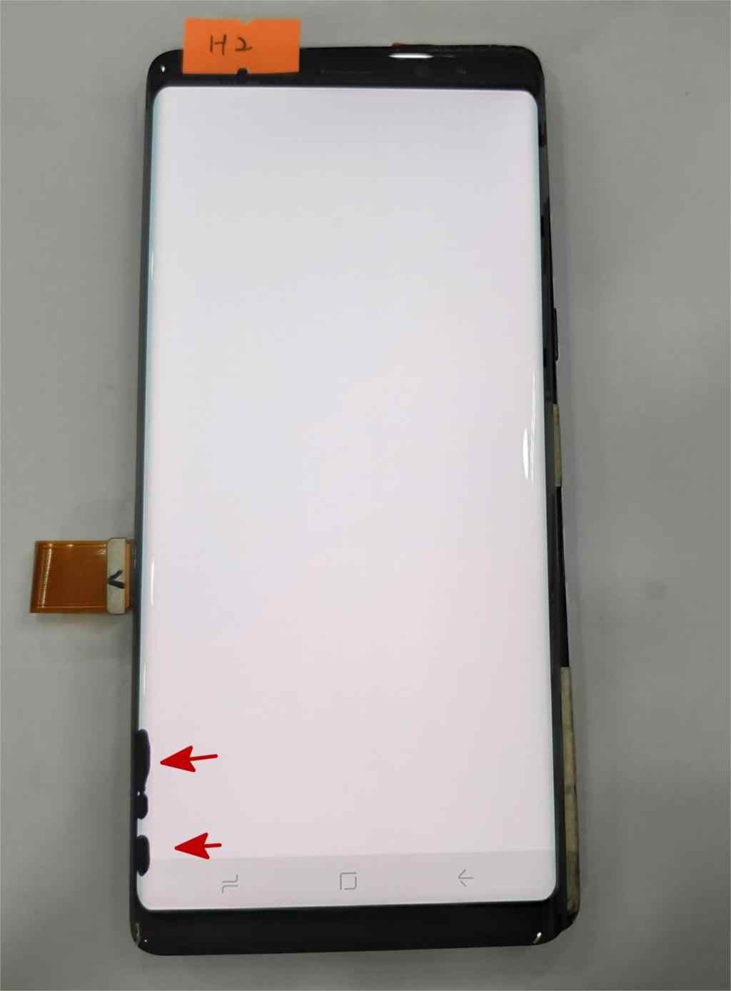 """سوبر Amoled لسامسونج غالاكسي Note8 ملاحظة 8 N9500 N950FD N950U عيب شاشة الكريستال السائل مجموعة المحولات الرقمية لشاشة تعمل بلمس 6.3"""""""