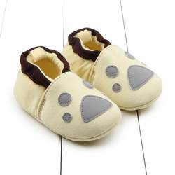 Китайская противоскользящая Нескользящая нескользящая обувь новорожденного из флока; Теплая обувь; мягкая хлопковая обувь для малышей;