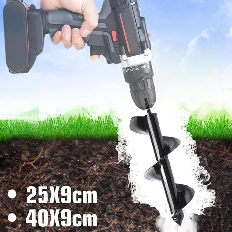 Máquina de Plantio Terra Escavadeira Buraco Ferramenta Jardim Broca Pós Jarda 400x90mm