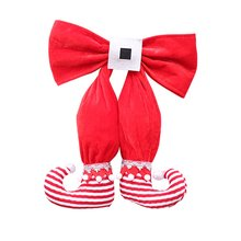 Lovely Classic Stockings Hangings Christmas Tree Ornament for Vovoamy Christmastree Bow Elf Boots Hanging
