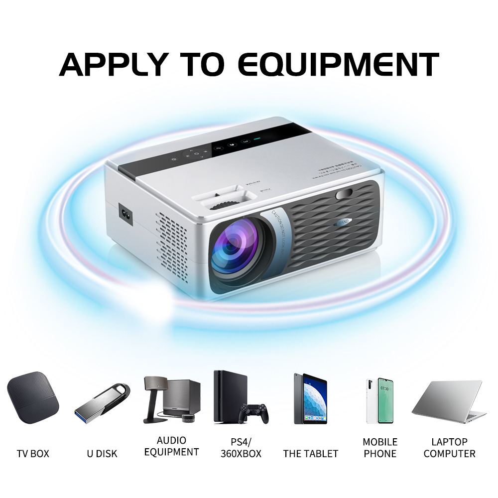 UNIC CP600 1280x720P LED 8000 Lumen Projektor 1080P Full HD HDMI WIFI Bluetooth LCD Heimkino film Beamer Android Proyector
