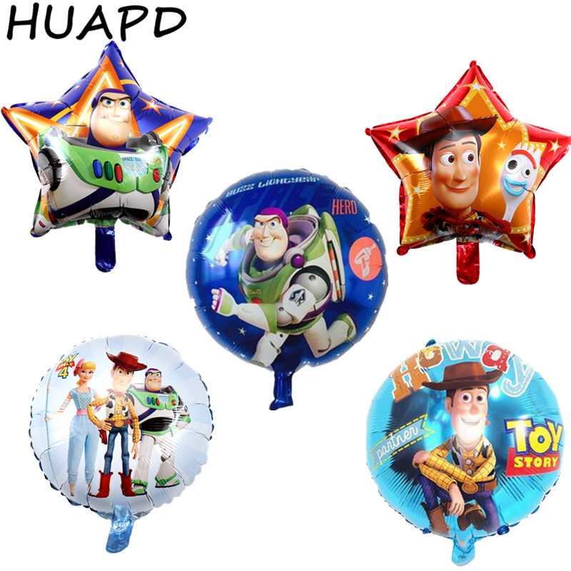 1pc 45cm 18inch Disney Toy Story Bo Peep Buzz Lightyear Woody Foil Balloon Kids