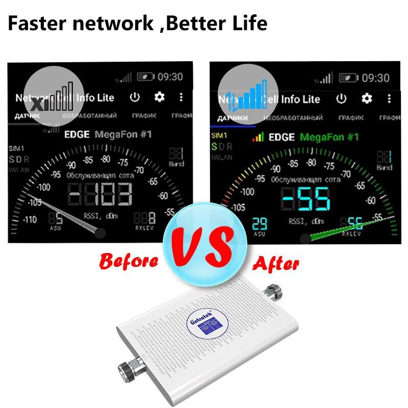 Усилитель сотового сигнала lintratek, 3g 4g LTE мобильный 4g усилитель сигнала 1800 2100 DCS WCDMA UMTS 3g усилитель