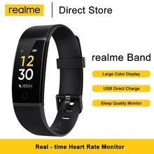 Realme banda pulseira inteligente grande cor monitor de freqüência cardíaca lembrete de água lembrete sedentário ip68 classificação de resistência à água