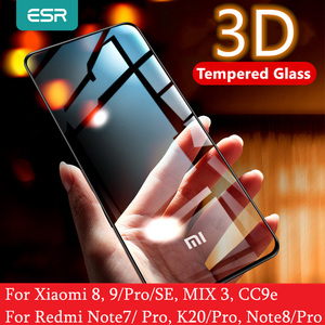 Image 1 - Protezione Dello Schermo per Xiaomi Mi ESR 8 9 Pro SE CC9e 3D Copertura Completa Proteggere Anti Blu ray Temperato vetro per la Nota Redmi 7 8 K20 Pro