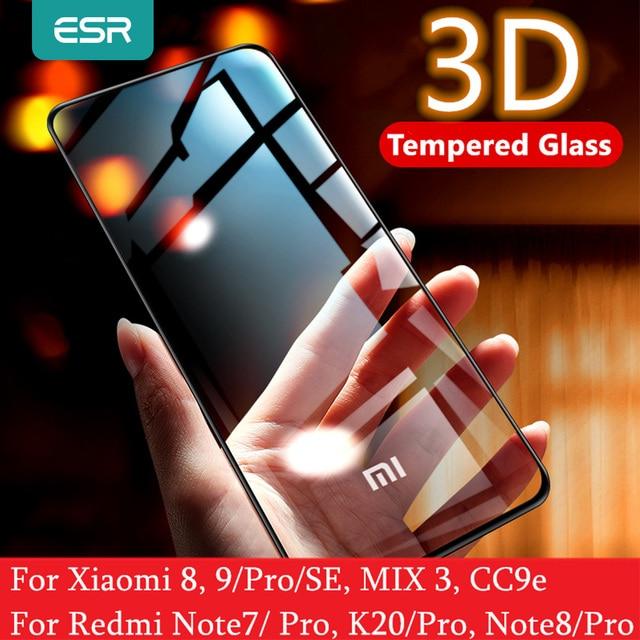 Protezione Dello Schermo per Xiaomi Mi ESR 8 9 Pro SE CC9e 3D Copertura Completa Proteggere Anti Blu ray Temperato vetro per la Nota Redmi 7 8 K20 Pro