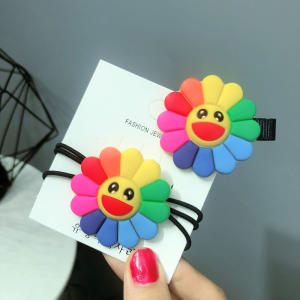 Hair-Ring Sunflower Little-Girl Wholesale Children's Tie Tiara Health-Girl-Card Baby