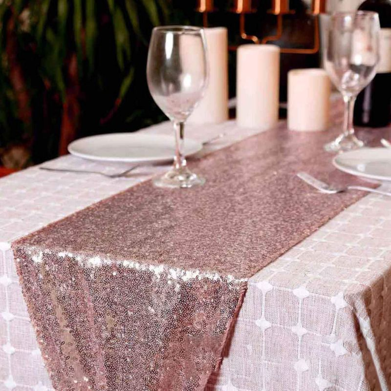Glitter Sparkly Sequined Table Runner For Wedding Birthday Party Table Decorations