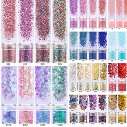 4 pots 19 Color Mix UV Epoxy Resin Mold Filling Sequins Nail art DIY Making Epoxy Resin Jewelry Supplies for jewelry Finding
