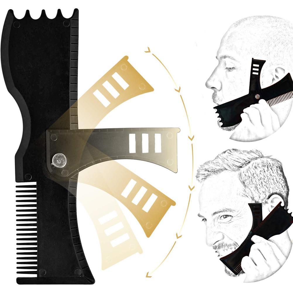 XY необычный Регулируемый инструмент для формирования бороды с расческой и шаблоном для укладки бритв клипперы для мужчин
